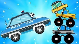 Police Chase to the Criminals and Crashed - Cars Videos for Kids with Car Garage