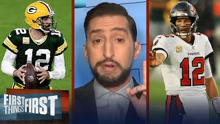 Rodgers' Packers will defeat Brady's Bucs in NFC Championship — Nick | NFL | FIRST THINGS FIRST