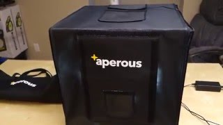 "Aperous 17x17"" Photo Studio Light Box Tent Kit REVIEW"