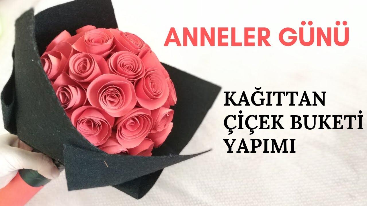 Kağıttan Renkli Güller Yapımı 🌹🌷💮🏵️🌹/Simple Hand Crafts  #annelergünü #babalargünü