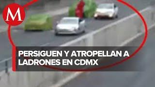 Delincuentes roban 200 mil pesos, familiar de víctima embistió a los ladrones con su camioneta
