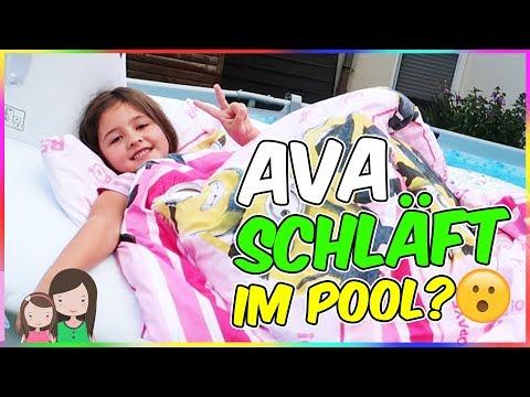 Bett im Pool! Ava will im POOL schlafen! Eine verrückte Idee? Alles Ava