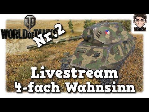 World of Tanks - Aufzeichnung Livestream 4-fach Wahnsinn Nr.2 YouTube + Twitch [deutsch]