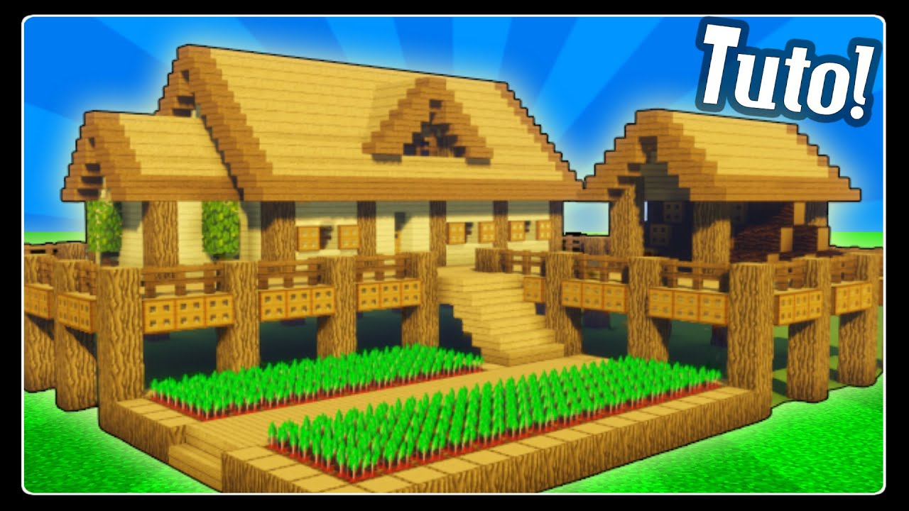 Tuto Grande Maison De Survie En Bois Facile A Faire Minecraft Youtube
