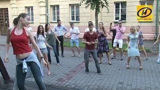 Танцы на асфальте  необычные мастер классы на улицах Могилёва