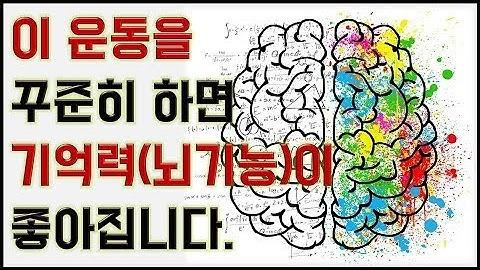 이 운동 꾸준히 하면 기억력과 뇌기능이 좋아진다