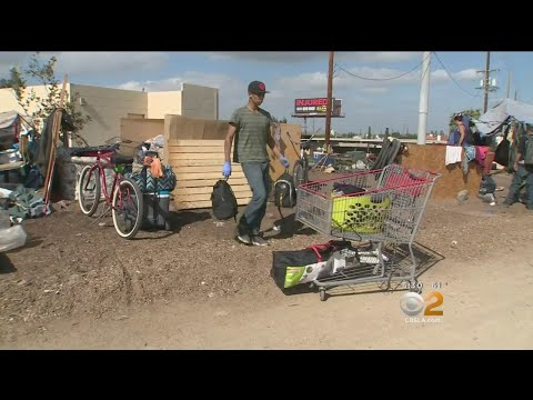Removal Of Homeless Underway From Santa Ana Riverbed