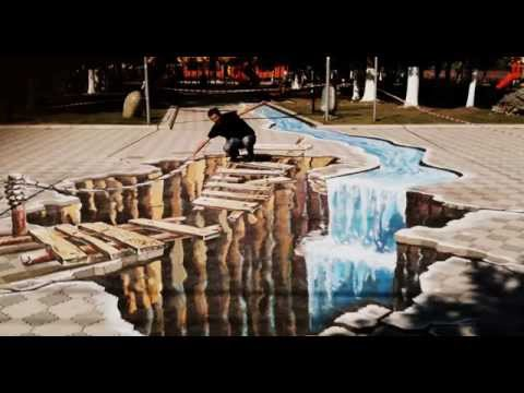 3D Street Art Illusion - Making of and RESULT !