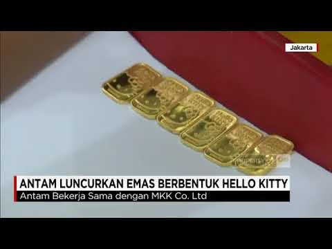 Antam Luncurkan Emas Berbentuk Hello Kitty Youtube