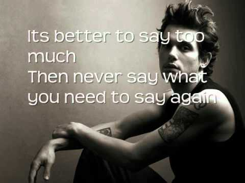 John Mayer - Say Lyrics On Screen :)
