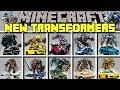 Minecraft NEW TRANSFORMERS MOD l BUMBLEBEE, OPTIMUS PRIME, AUTOBOTS! l Modded Mini-Game