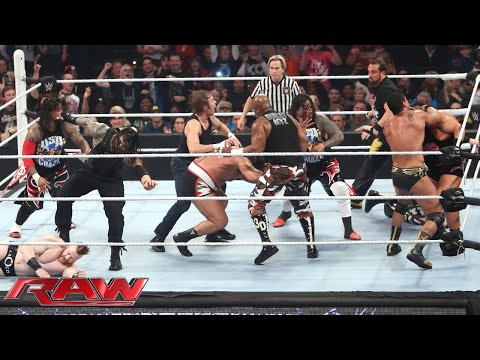 Thumbnail: 16-Man Elimination Fatal 4-Way Elimination Tag Team Match: Raw, December 7, 2015