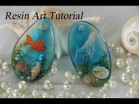 Resin Art Tutorial - Resin Jewelry  ( Jelly fish,  Fish)
