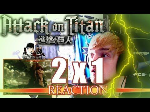 "Attack on Titan: Season 2 - Episode 1 REACTION ""Umm, uh, what?!"""