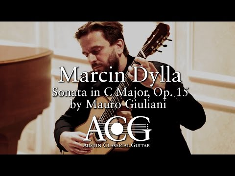 Marcin Dylla - Sonata in C Major, Op. 15 by Mauro Giuliani [ACG Benefit Concert]