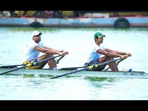 Men's A double scull, 77th Madras-colombo regatta, Biera lake, Colombo.
