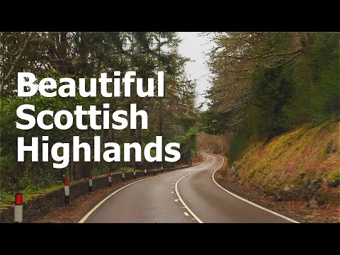 Beautiful Highlands of Scotland - Road trip /Drive through Loch Ness and Glencoe
