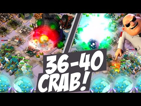 "Boom Beach Mega Crab Stage 36-40 ""TECH TALK + NEW MIC!"" Epic Long Let's Play!"