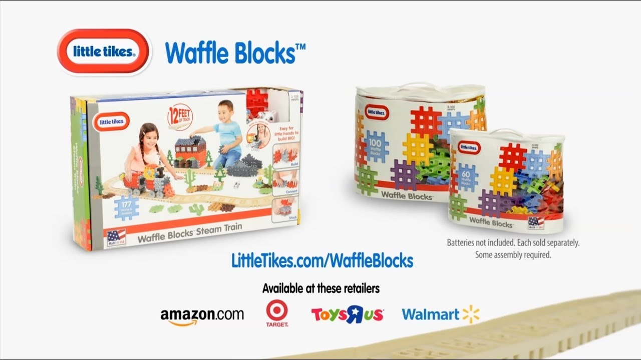 NEW Little Tikes Waffle Blocks | :30 - YouTube