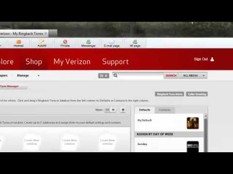 how to use verizon wireless ringback tones  YouTube