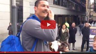 cristiano ronaldo se disfraza de mendigo y sorprende a un nio en madrid video completo