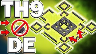 BEST TH9 DARK ELIXIR PROTECTION BASE! NEVER SEEN ON YOUTUBE! - Clash of Clans