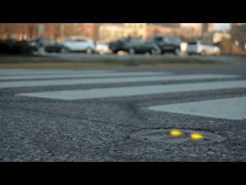Crosswalk Warning Lights - LaneLight Demo - Designed to target a Distracted Driver's Tunnel Vision