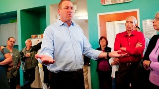 Congressman Jeff Denham faces angry crowd after Obamacare repeal vote