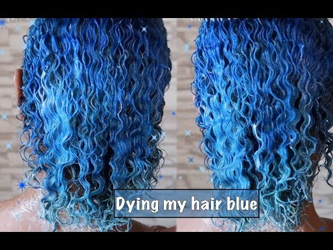 DYING MY HAIR BLUE | NATURAL HAIR