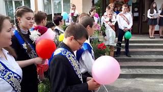 Окончание учебного года 2018. Линейка. Первый класс позади. Воротын. Беларусь.