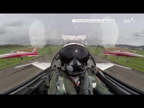 Kompletter Trainingsflug der Patrouille Suisse vom 25.04.2016