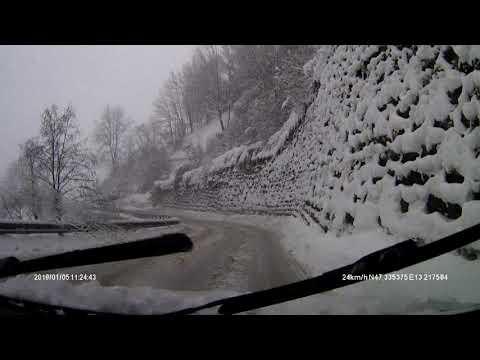 SNOW DISASTER ROAD B 163 WAGRAIN TO St.JOHANN