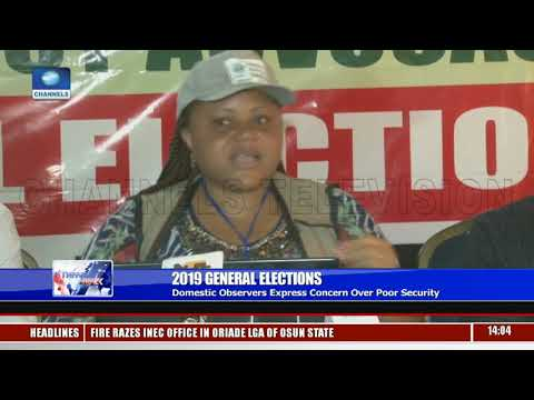 General Elections: Domestic Observers Express Concern Over Poor Security