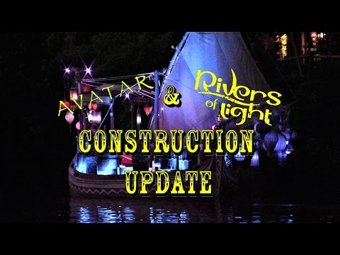 Disney's Animal Kingdom Construction Update 1.4.17 RIVERS OF LIGHT TESTING!!!