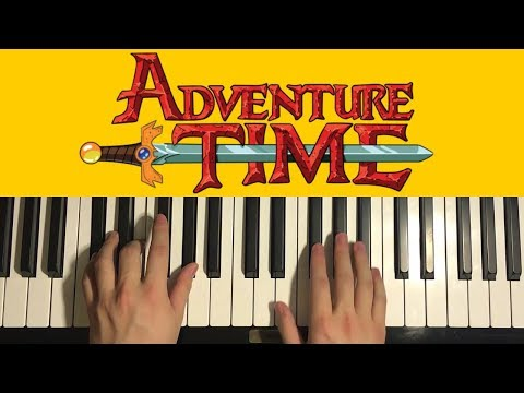 HOW TO PLAY  Adventure Time  Theme Song Piano Tutorial Lesson