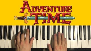 HOW TO PLAY - Adventure Time - Theme Song (Piano Tutorial Lesson)