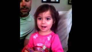 3 year old singing I woke up in a new Bugatti