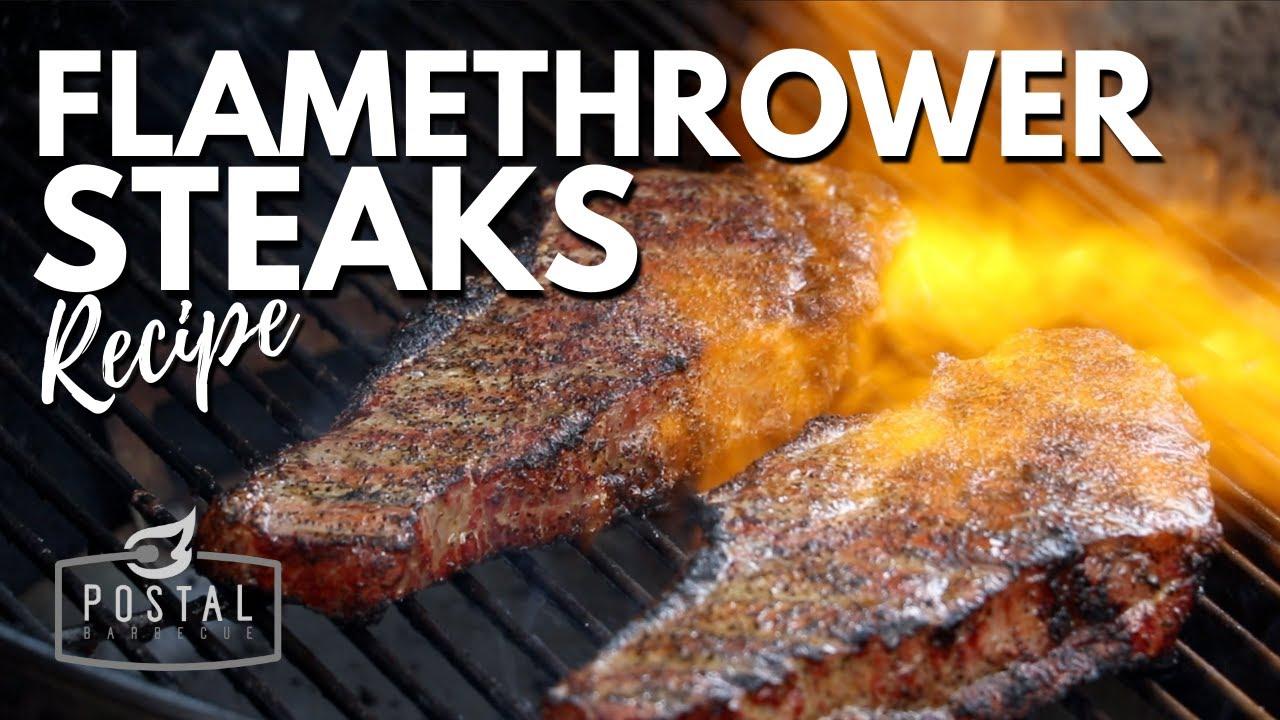FLAMETHROWER STEAK - Perfect Reverse Sear Steak on the grill