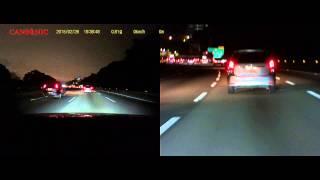CANSONIC Z1無路燈高速公路30米車牌辨識效果
