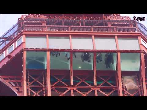 Blackpool Tower lift and glass floor.