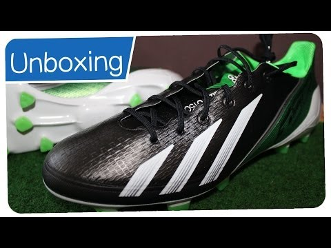 Adidas F50 Adizero Synthetic + Micoach Black/Green/White - BENZEMA Boots Unboxing