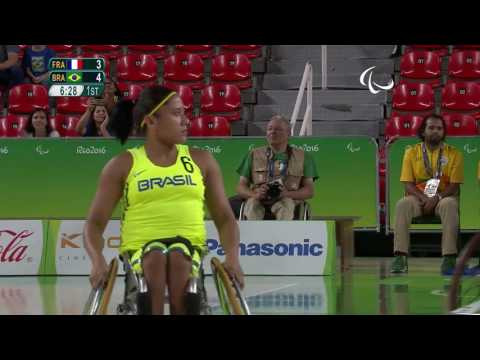 Wheelchair Basketball|France VS Brazil|Women's-Classification Playoff 7/8|Rio 2016 Paralympic Games