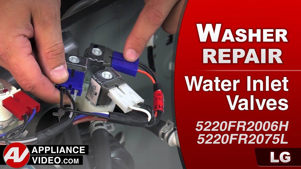 Lg Washer Water Inlet Valves Repair Youtube