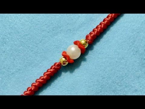 Gelang kombinasi mote dan tali satin,macrame bracelet,manik
