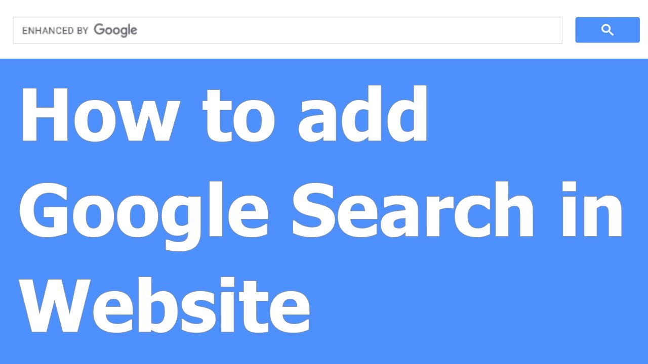 How to add Google Search in Website | Online Page SEO Tips