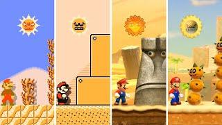 Evolution of Desert Levels in Mario Games (1988-2020)