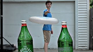 Bottle Cap Challenge Trick Shots | That's Amazing