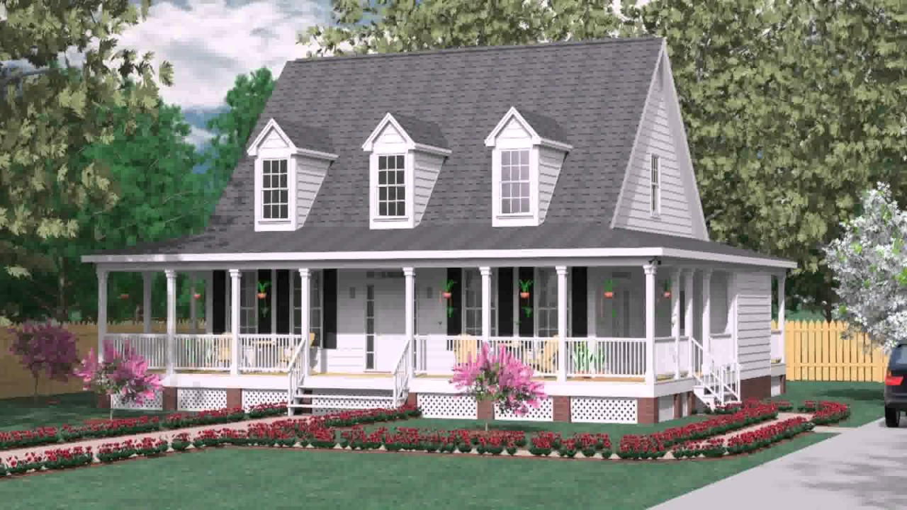Country style house with wrap around porch youtube for Country style homes with wrap around porch