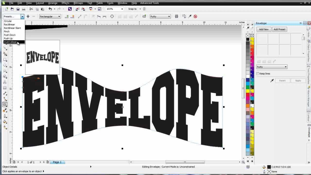 CorelDRAW X6 for Beginners the Envelope and Perspective Tools - YouTube
