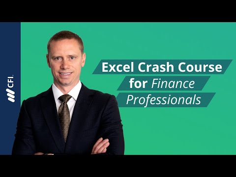 Excel Crash Course for Finance Professionals - FREE | Corpor